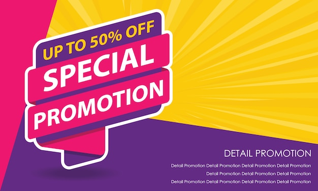 Sale promotion banner template Premium Vector