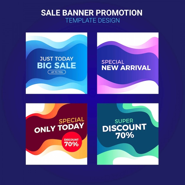 Sale promotion banners for social media template Premium Vector