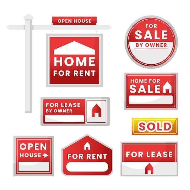 판매 부동산 표시 무료 벡터