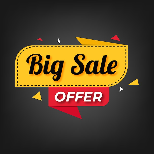 Sale special offer banner and price tags design Premium Vector