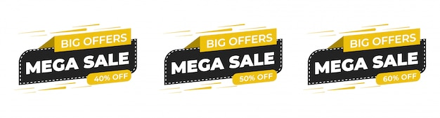 Sale special offer and price tags premium vector Premium Vector