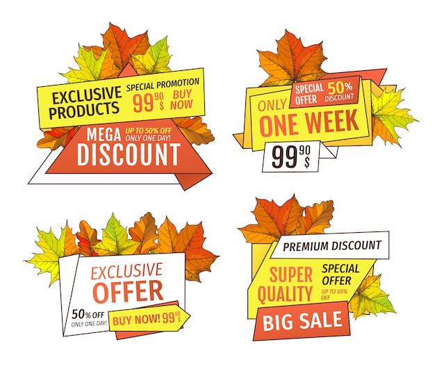 Sale super quality special offer 50 percent off Premium Vector