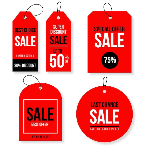 Sale tag collection Free Vector