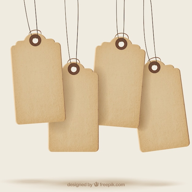 Sale Tags With Texture Vector  Free Download