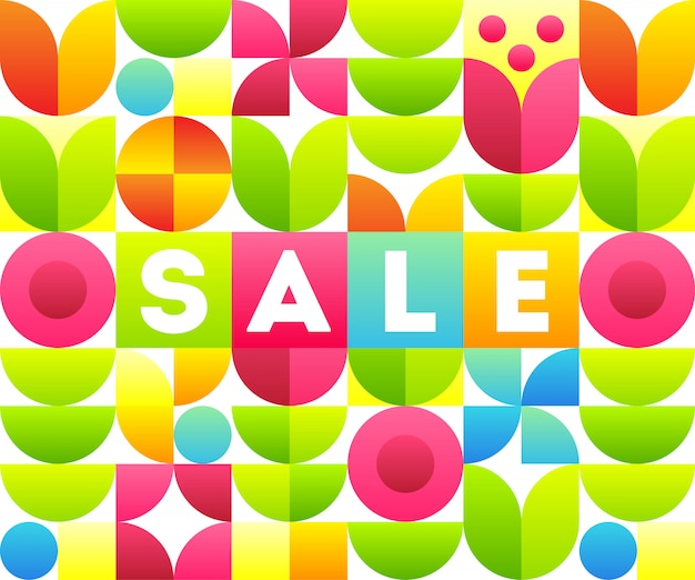 Sale. text with abstract floral design. stylish banner template. Premium Vector
