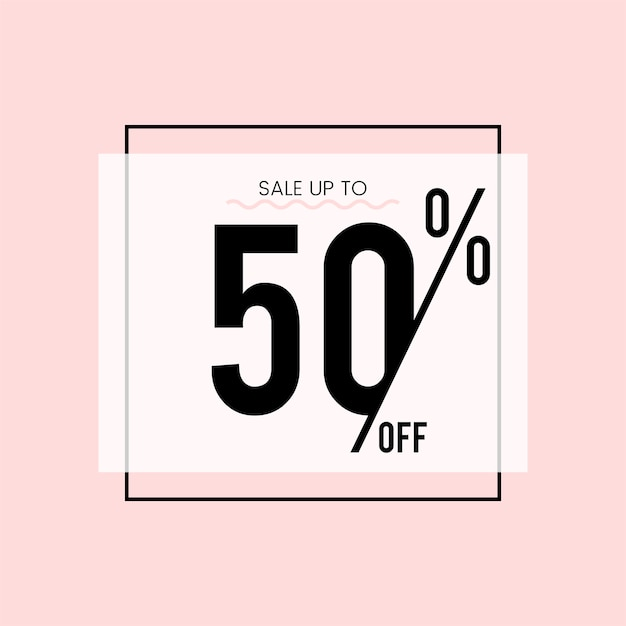 Sale up to 50% off vector