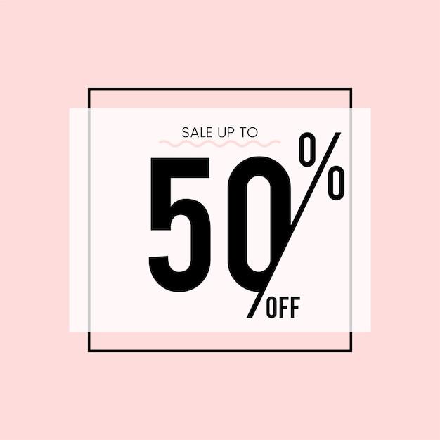 Продажа до 50% от вектора Бесплатные векторы