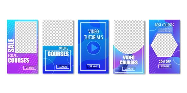 Sale for video courses Premium Vector