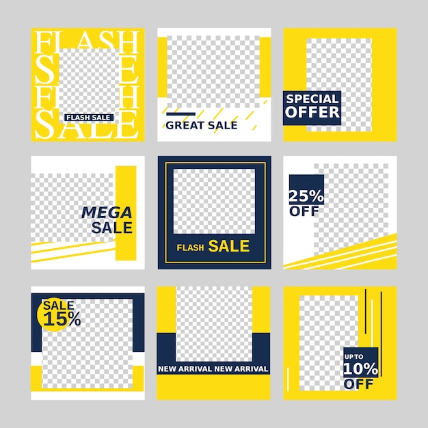 Sale web banner for social media promotion and marketing with minimal design element. Premium Vector