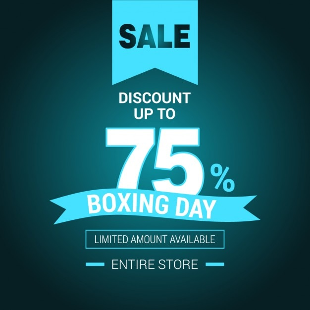 Sales background of boxing day