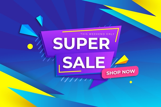 Sales banner collection in origami style concept Free Vector