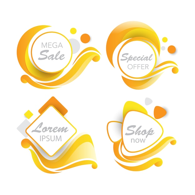Sales banner in swirl detailed Free Vector