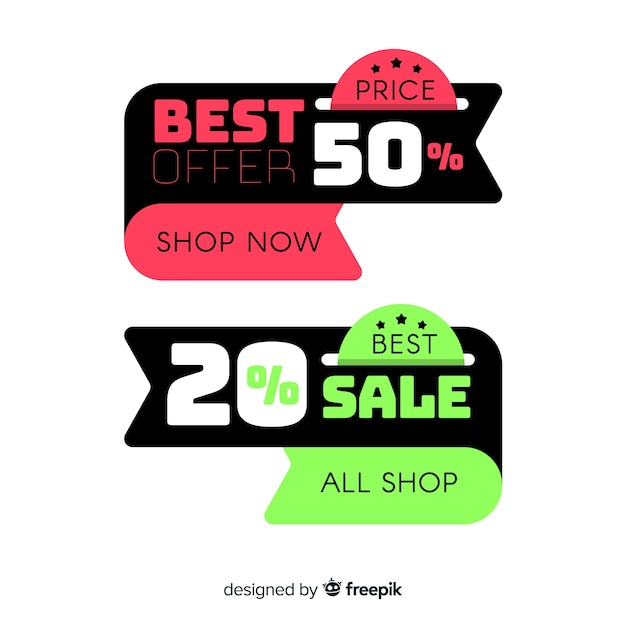 Sales banner Free Vector