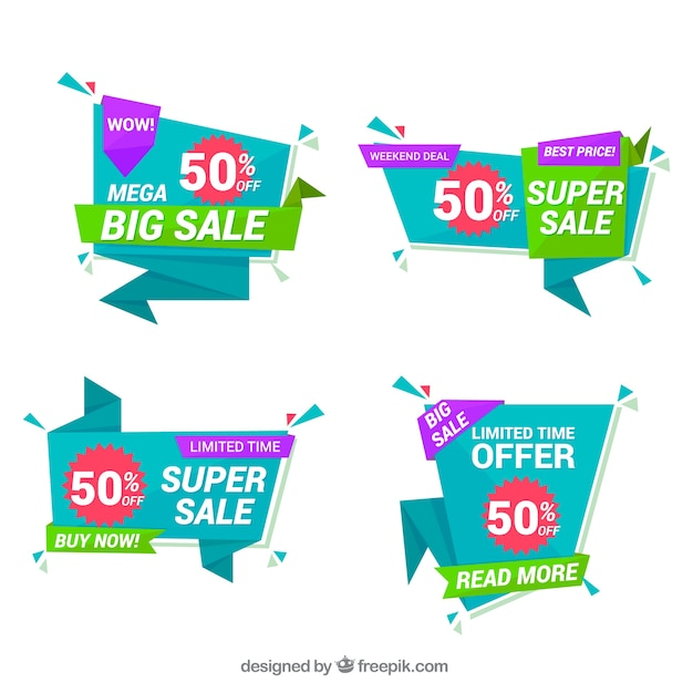 Sales banners collection