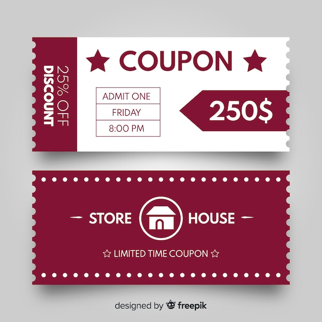 Sales concept with coupon Free Vector