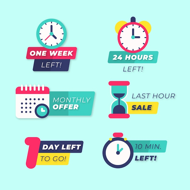 Sales countdown banner collection Free Vector