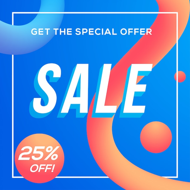 販売割引バナーテンプレートベクトル Premiumベクター