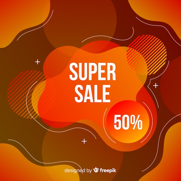 Sales fluid effect background Free Vector