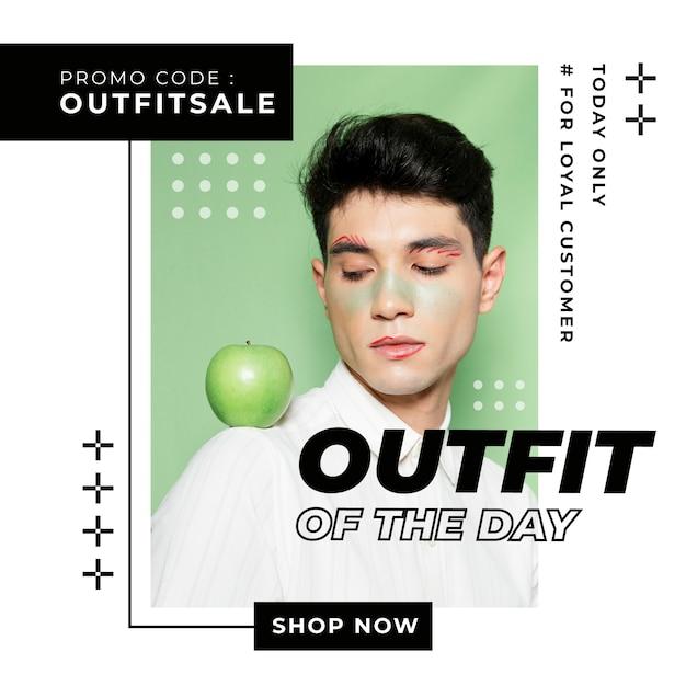 Sales instagram post template Free Vector