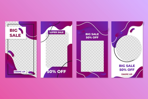 Sales instagram stories collection Free Vector
