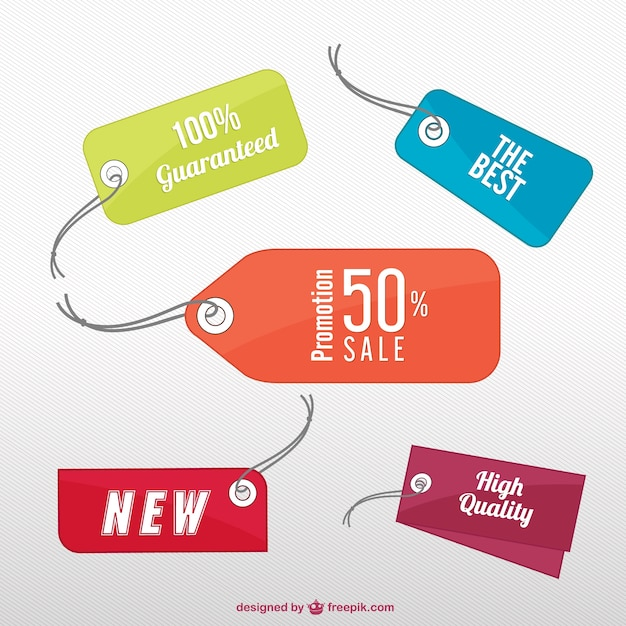 Sales labels Free Vector