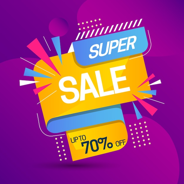 Sales promotion with super sale Free Vector
