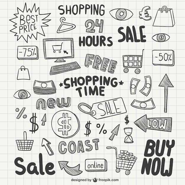 Sales scribbles Free Vector