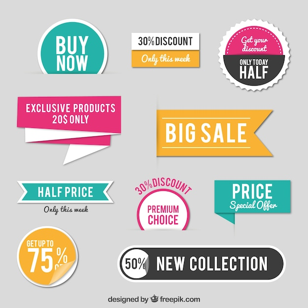 sales stickers vector free download rh freepik com golden labels vector free clothing labels vector free