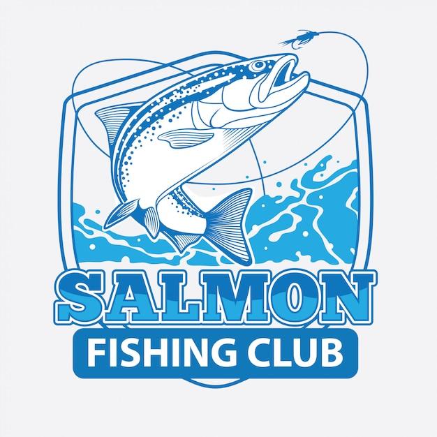 Salmon fishing club Premium векторы