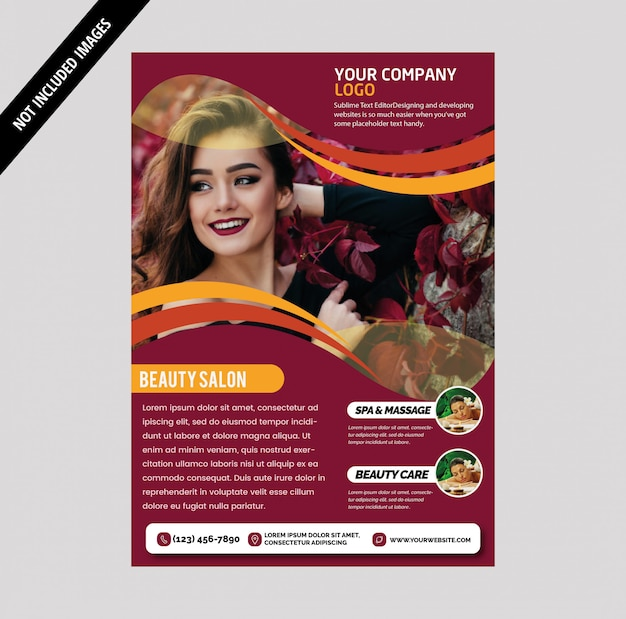 Salon brochure Premium Vector
