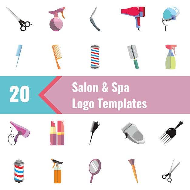 Salon & spa logo templates Premium Vector