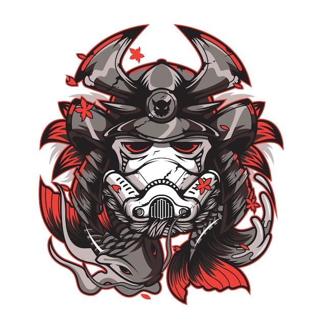Samurai design Premium Vector
