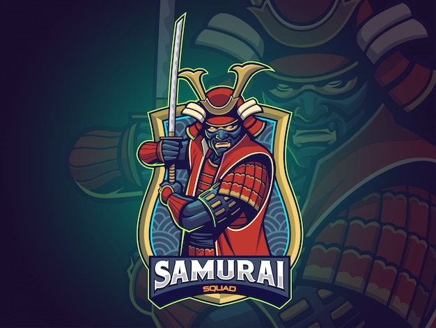 Samurai esports logo for your team Premium Vector