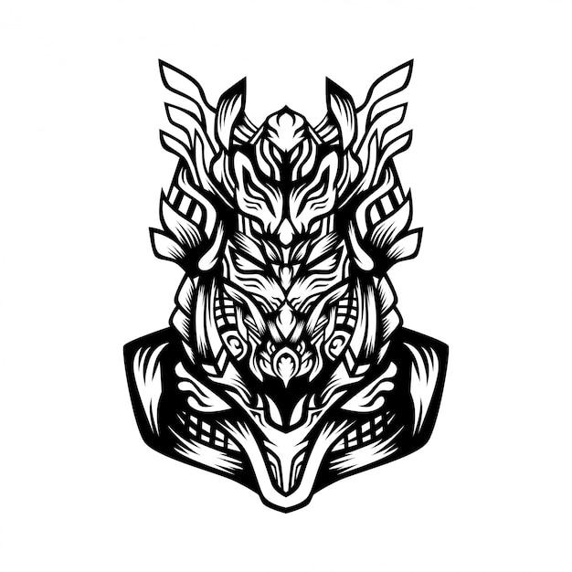 Samurai forces vector illustration Premium Vector