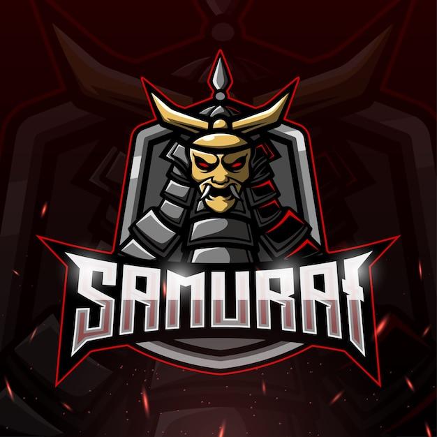 Samurai mascot esport illustration Premium Vector