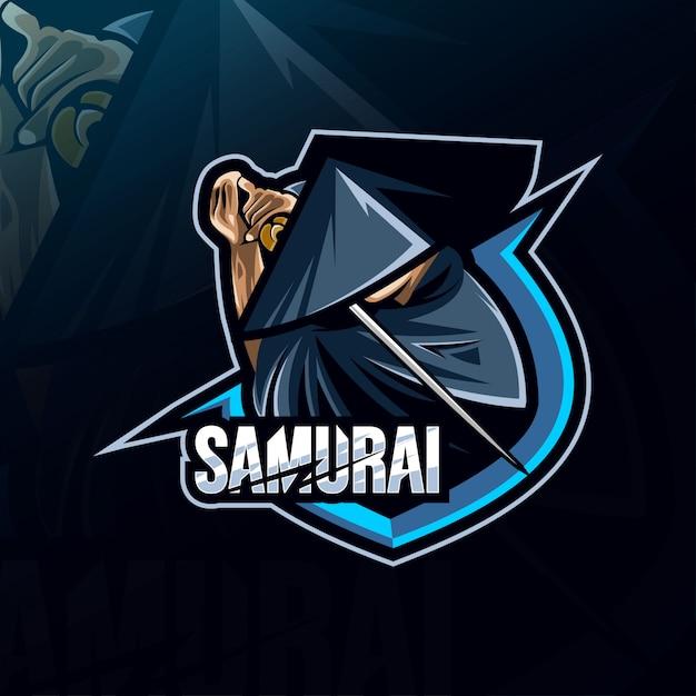 Samurai mascot logo esport templates   Premium Vector