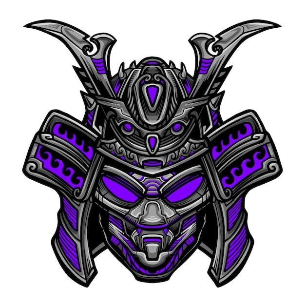 Samurai robot vector Vector | Premium Download