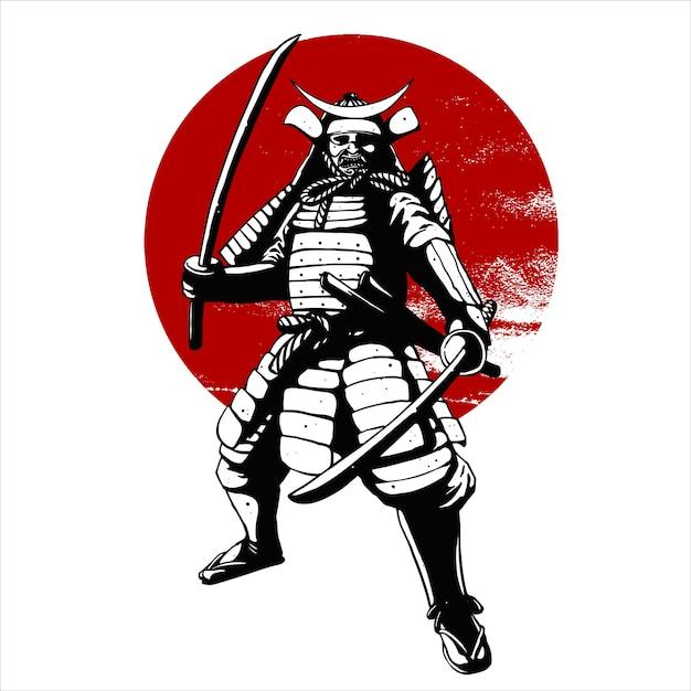 Samurai war Premium Vector