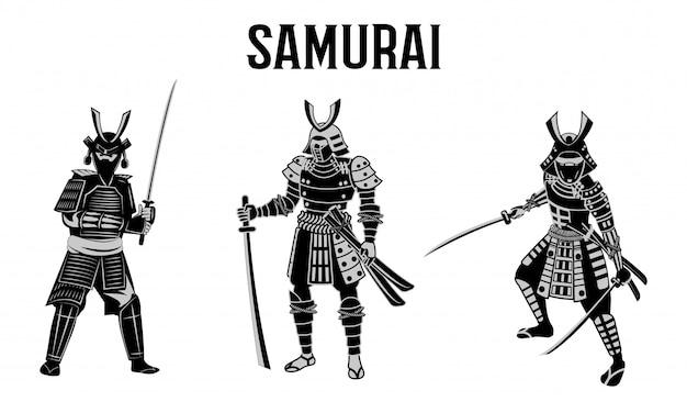 Samurai warrior of japan Premium Vector