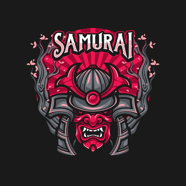 Samurai warrior mask Premium Vector