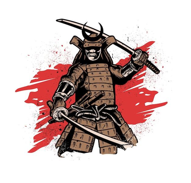 Samurai warrior Premium Vector