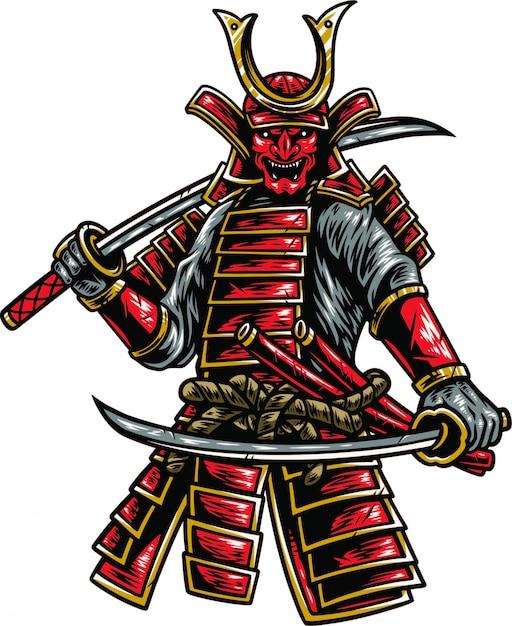 Samurai Premium Vector