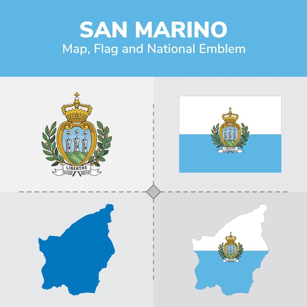 San marino map, flag and national emblem Vector | Premium ... on sao tome map, slovakia map, saint kitts and nevis, vatican map, poland map, montenegro map, papal states, serbia map, monaco map, american samoa map, reunion map, usa map, yugoslavia map, vatican city, marshall islands, enclave and exclave, landlocked country, wales map, switzerland map, malta map, faroe islands, seychelles map, italy map, luxembourg map, sweden map, slovenia map, andorra map,