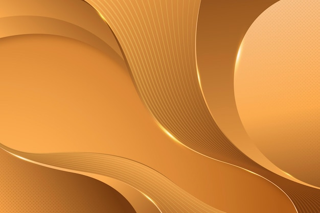 Sand smooth golden wave background Free Vector