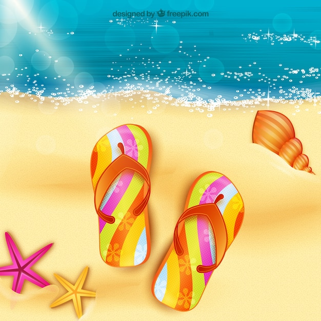 Sandals on the sand