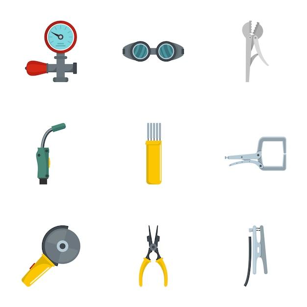 Sanitary engineering icons set, cartoon style Premium Vector