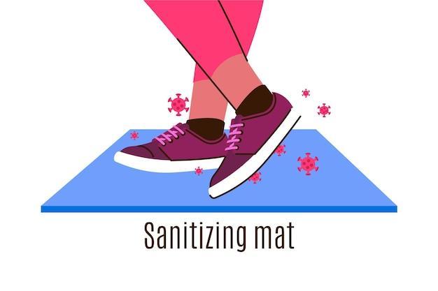 Sanitizing mat illustration Premium Vector