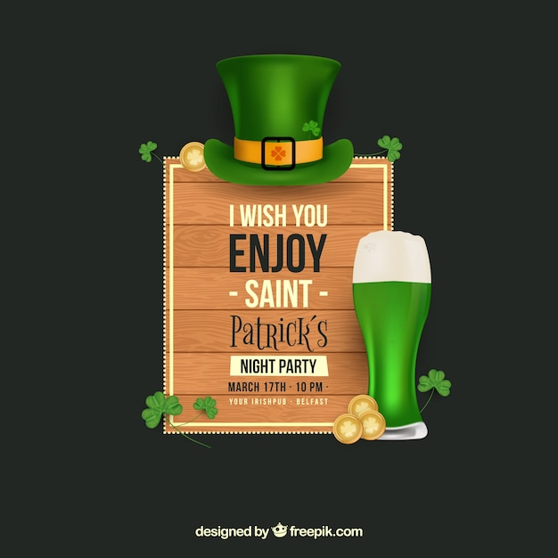 Sant patrick's day banners web collection Free Vector