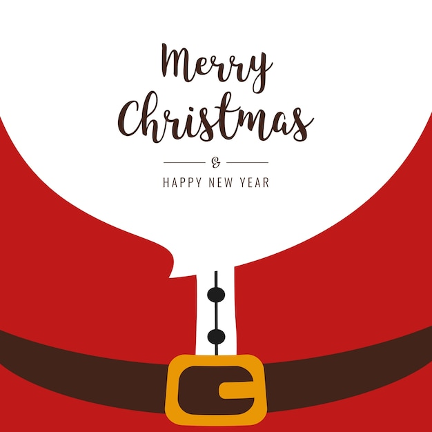 Santa beard merry christmas gretting text Premium Vector