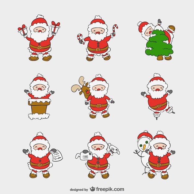 Santa cartoons pack